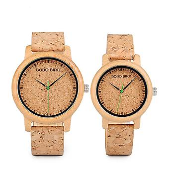 BOBO BIRD W*M11M12 Unique Design Watch Band Quartz Watches Lovers Bamboo Couple