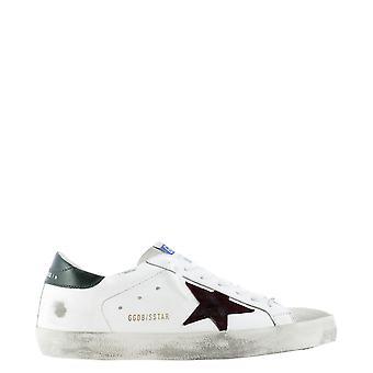 Golden Goose Gmf00101f00033880303 Hombres's zapatillas de cuero blanco
