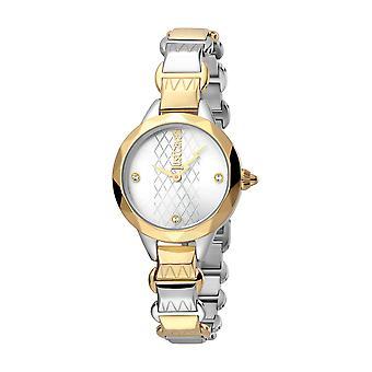 Just Cavalli Women's Estro Silver Dial Stainless Steel Watch