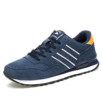 Artificial Leather Sneakers, Outdoor Breathable Casual Flats Shoes
