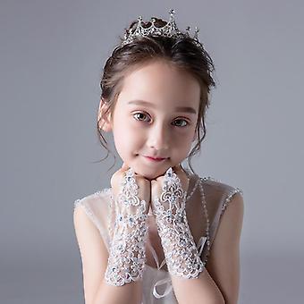 Módna krása Bez prstov Svadobné rukavice čipky pre svadobné doplnky