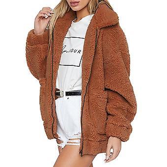 Iarna Teddy Coat Faux Blan Bear Gros Cald Fake Fleece Jacheta Overcoat