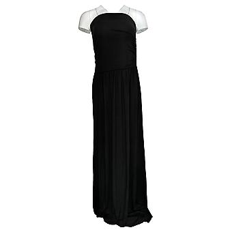 Belle Beach by Kim Gravel Dress TripleLuxe Sleeveless Maxi Black A378635