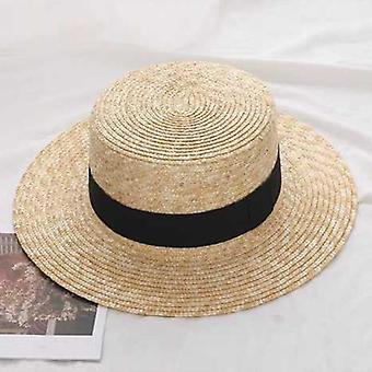 כובע קש רחב שוליים נשים, אופנת Chapeau Paille ליידי כובעי שמש
