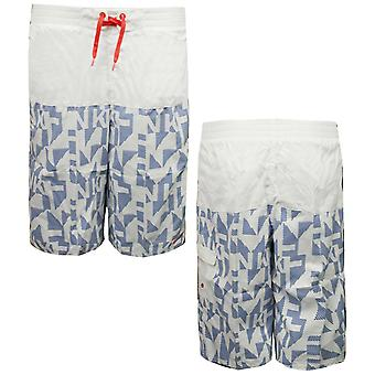 Nike Boys Board Shorts Kids Swimming Trunks Juniors Bleu blanc 465301 100 A111E