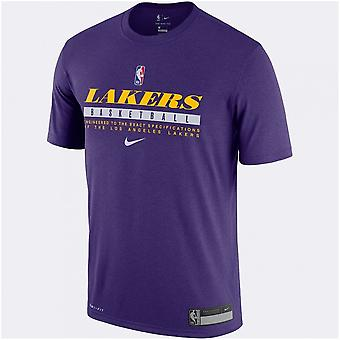 Nike Nba Los Angeles Lakers Training Dri-fit T-shirt Purple