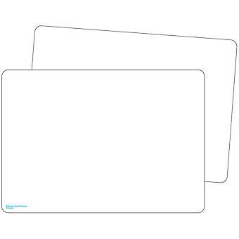 Placas de borrado en blanco premium de doble cara, paquete de 10