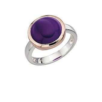 Elemente Silber - Frauen Runde Achat Ring