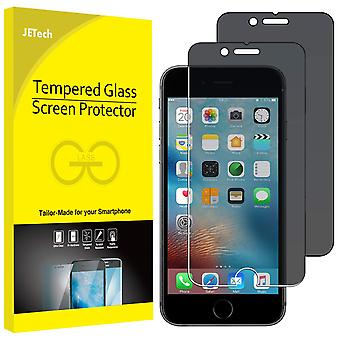 Jetech privacy screen protector for iphone 6s plus and iphone 6 plus, anti-spy tempered glass film,