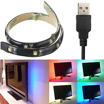 LED قطاع 30CM ضوء 3528 للماء مع USB ميناء كابل سوبر مشرق DC 5V