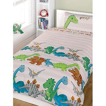 Dinosaurs Duvet Cover and Pillowcase Set