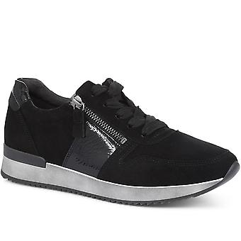 Gabor Womens Lulea Casual Leather Lace-Up Trainers
