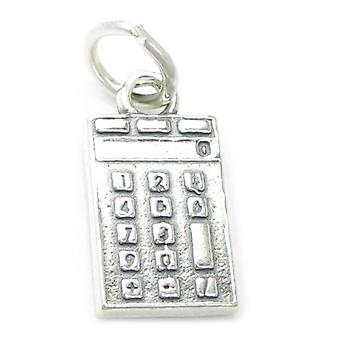 Calculator Sterling Silver Charm .925 X 1 Calculators Calculater Charms - 3673