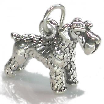 Schnauzer Dog Sterling Silver Charm .925 X 1 Schnauzers Dogs Charms --sfp - 8558