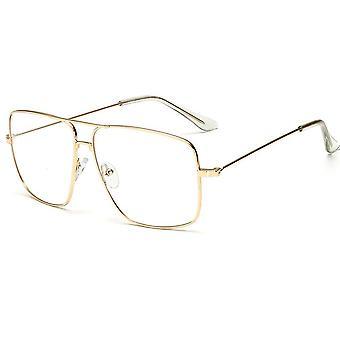 Metal Oversized Square Eye Glasses