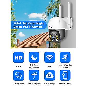 Hiseeu 1080P سرعة قبة WIFI كاميرا 2MP اللاسلكية في الهواء الطلق PTZ IP كاميرا سحابة-SD فتحة ONVIF 2-Way Aud