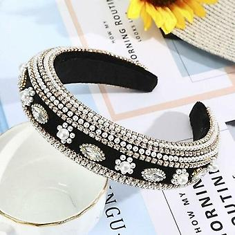 Baroque Full Rhinestone Hair Bands Luxe Brillant Rembourré