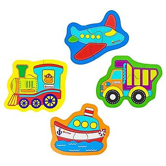 "Alatoys Wooden  A set of puzzles ""transport"""