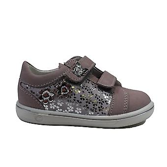 Ricosta Niddy 2622200-343 Pink Leather Girls Rip Tape Casual Trainer Shoes