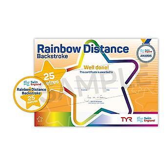 ASA zwemmen Engeland Rainbow beroerte Award - rugslag - 25m