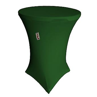 La Linen Round Spandex Cover For Bar High Cocktail Table, 36-Inch Round 42-Inch High, Green Emerald