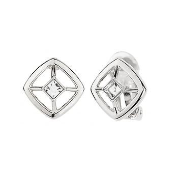 Traveller Clip Earrings with Crystal from Swarovski Rhodium plated - 157251