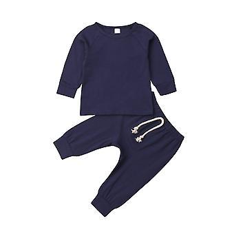 Baby weiche Baumwolle Pyjamas Kleidung Set Sleepwear Nachtwäsche Outfit Neugeborenen Säugling