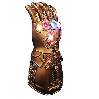 Thanos Infinity Gauntlet Light Hanske, Superhero Cosplay Hansker