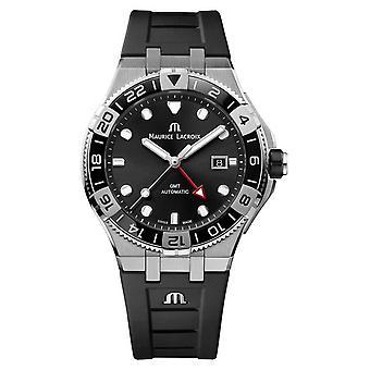 Maurice Lacroix Aikon Venturer GMT 43mm | Black Rubber Strap | AI6158-SS001-330-2 Watch