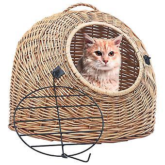 vidaXL Cat Transport Basket 45×35×35 cm Natural pasture