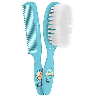 Beter Brush & Comb for Baby Blue Set 2 pcs