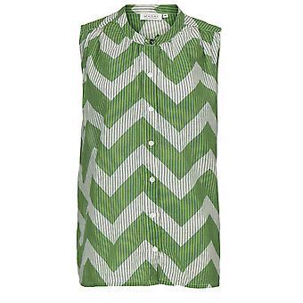 Masai Clothing Idemi Green Zig Zag Blouse