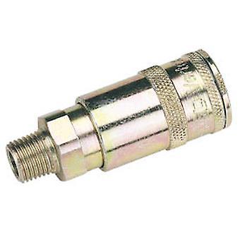 Draper 51385 Bulk 1/4 BSP Taper Male Thread Vertex Air Coupling (Sold Loose)
