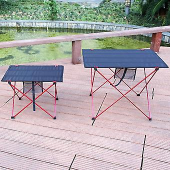 Portable Outdoor Folding Table, Foldable Camping Furniture, Aluminium Alloy,