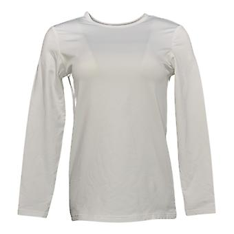 Belle par Kim Gravel Women's Top Triple Luxe Pima 3/4 Sleeve White A391272