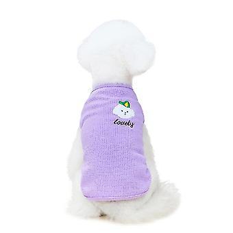 Cotton color puppy vest pet clothing