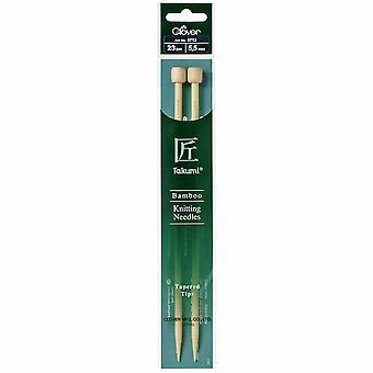 Klöverstickningsstift: Enkelsedd: Takumi Bambu: 23cm x 5.50mm
