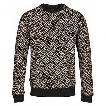 Luke 1977 Luke Wright All-Over Logo Print Sweatshirt Black