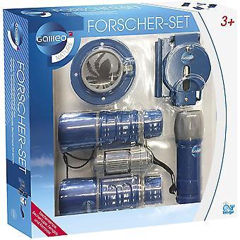 FengChun Beluga Spielwaren 62007 Galileo Forscher-Set 4-teilig Pfadfinderset 62007-Galileo