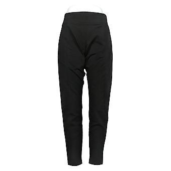 Susan Graver Kvinders Bukser Stretch Slim Leg Sort A378568