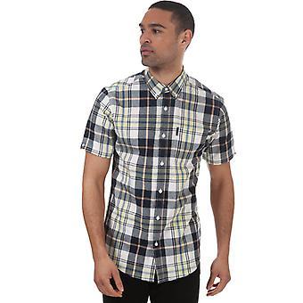 Camisa de cuadros a gran escala ben sherman para hombre en amarillo