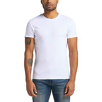 Mustang Aaron C Grundläggande T-Shirt, Vit, L Man