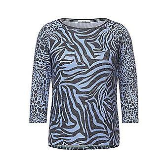 Cecil 315951 T-Shirt, Quiet Blue, L Donna