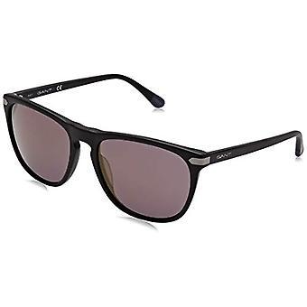 GANT EYEWEAR GA7078 Gafas de sol, Matte Black/Brown Mirror, 56 Men's