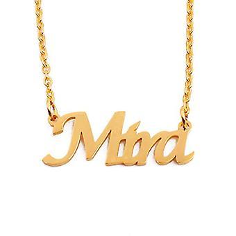 KL Kigu Mira - Vrouwen ketting met naam, naam, modieuze juweel, cadeau voor vriendin, moeder, zus