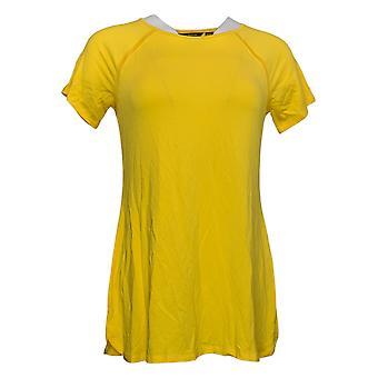 H por Halston Women's Top (XXS) Essentials Raglan-Sleeve Yellow