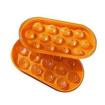 Orange 2pcs homemade ice hockey ice cube mold x860
