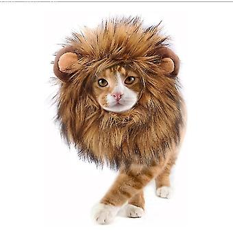 S lion mane wig for cats and dogsfunny pet cat costumes x1304