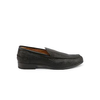 Duca di Morrone - Shoes - Moccasins - 50-PELLE-STAMPA-NERO - Men - Schwartz - EU 40