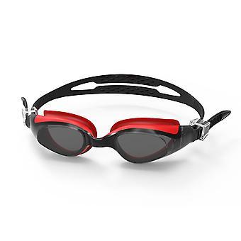 SwimTech Quantum Goggles Black/Red - Adult